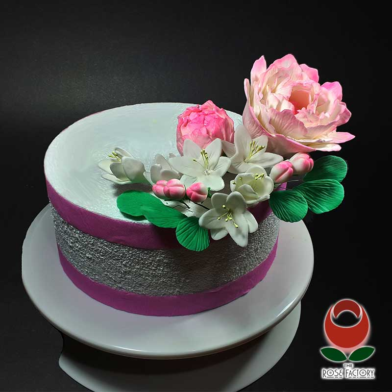 Ready-made gumpaste icing flowers cake decorations NZ