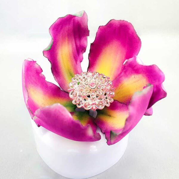 Gumpaste Icing Sugar Fancy Flower from The Rose Factory - Edible Cake Toppers New Zealand