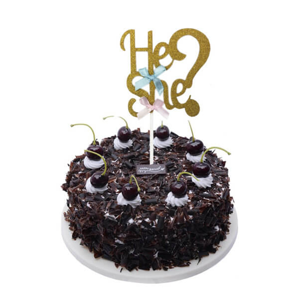 He or She Baby Shower Cake Topper for Cake Decoration Party Supplies from Online Shop - The Rose Factory