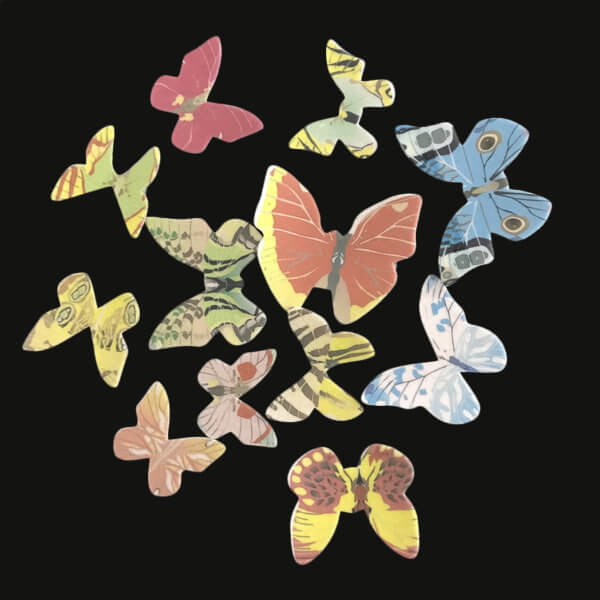 42pcs Mixed Butterfly Edible Glutinous Wafer Rice Paper butterfly Cake Cupcake Toppers Birthday Wedding party Cake Decoration - The Rose Factory