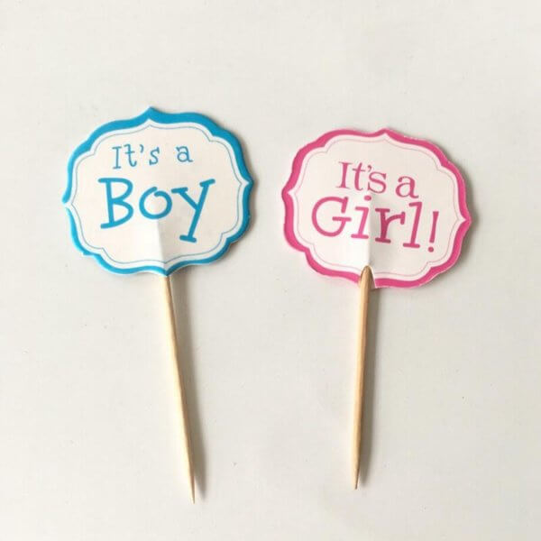It's a Girl Boy Cupcake Toppers Baby Child Celebration Baby Shower Kids Birthday Party Cake Decoration from the Rose Factory - New Zealand